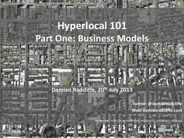 Hyperlocal 101: Part One, 10 hyperlocal business models