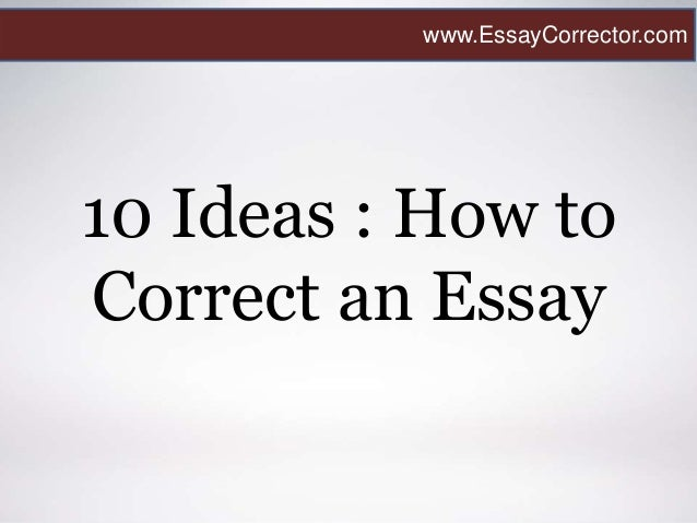 how to correct an essay
