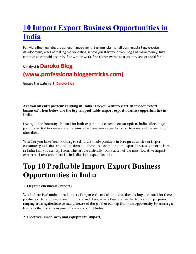 business opportunities in united states of america