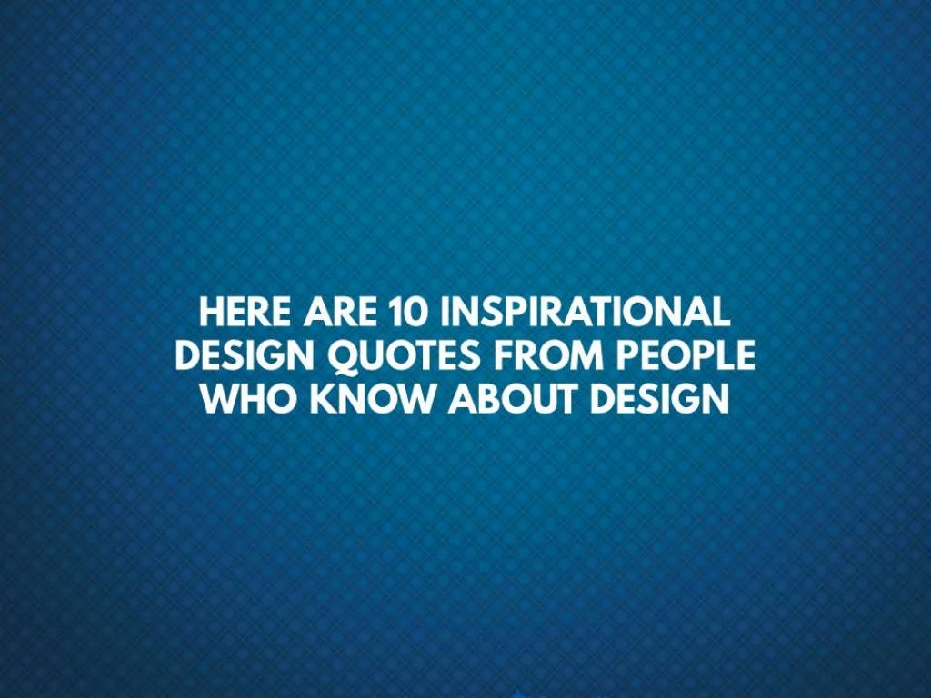 here are 10 inspirational design