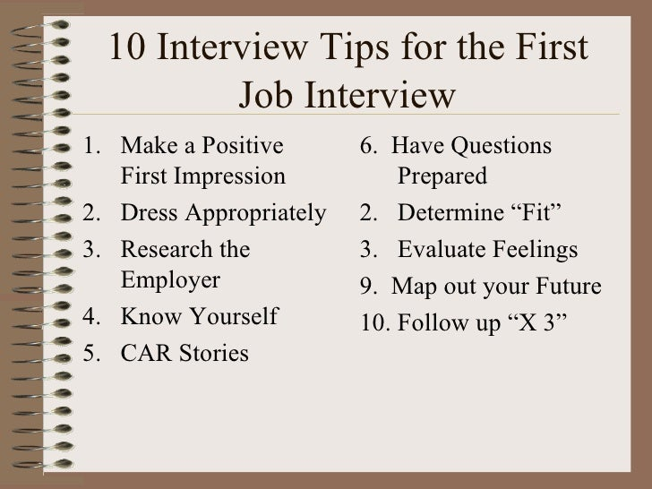 10 Interview Tips For The High School Student