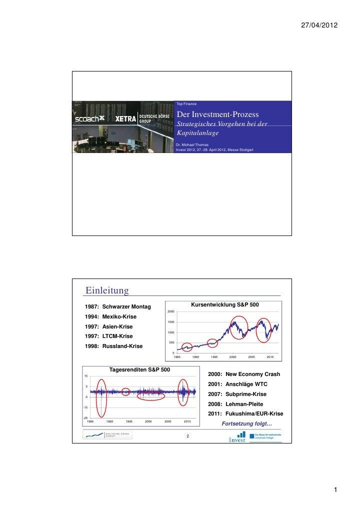 27/04/2012                                        Top Finance                                        Der Investment-Prozes...
