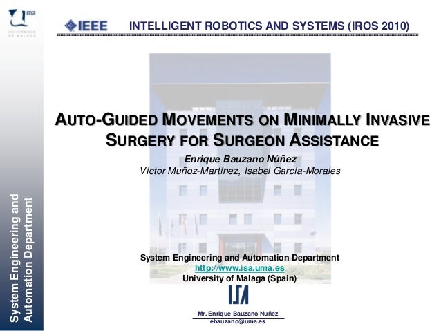 [18-22 Oct 2010] Auto-Guided Movements on Minimally Invasive Surgery for Surgeon Assistance