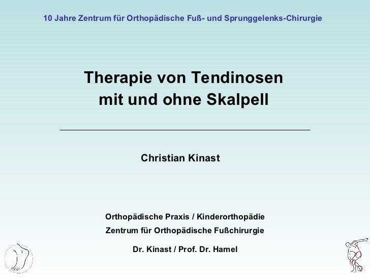 10 Jahre Therapie von Tendinosen