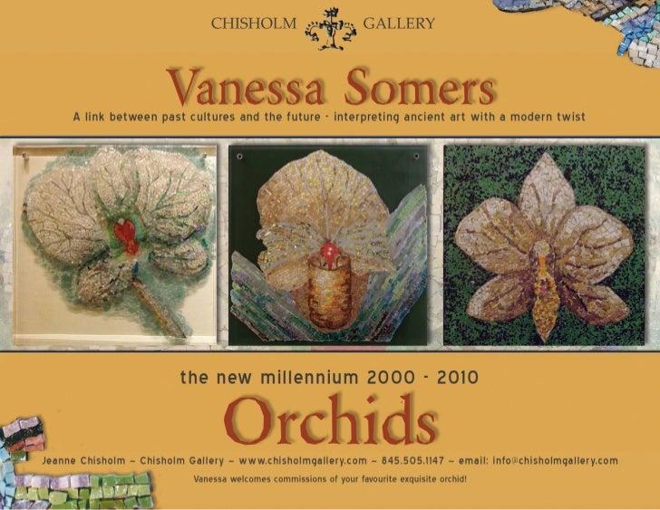 Orchid Mosaic Mandalas by Vanessa Somers Vreeland, Courtesy of Chisholm Gallery, LLC