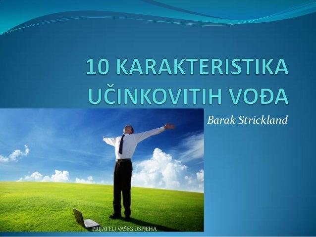 10 karakteristika učinkovitih vođa