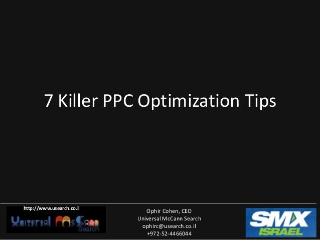 10 killer ppc optimiaztion tips