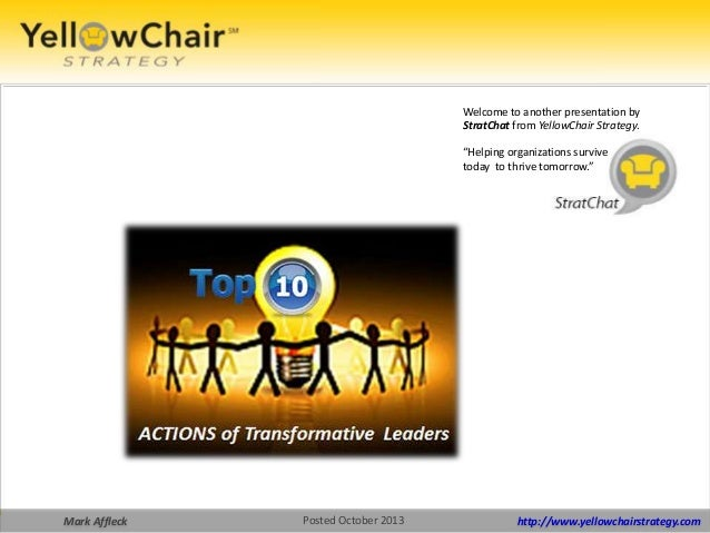 """Welcome to another presentation by StratChat from YellowChair Strategy. """"Helping organizations survive today to thrive tom..."""