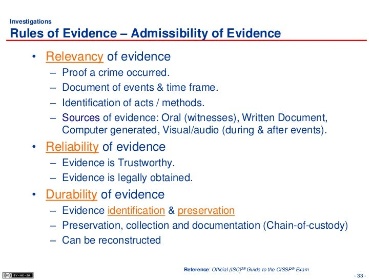 direct evidence as for oral evidence