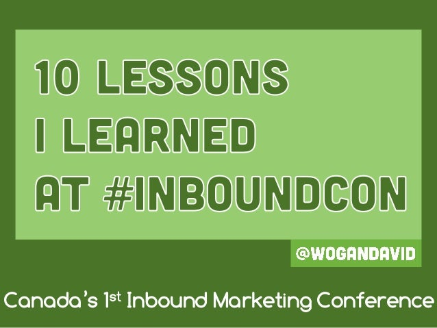 Canada's 1st Inbound Marketing Conference