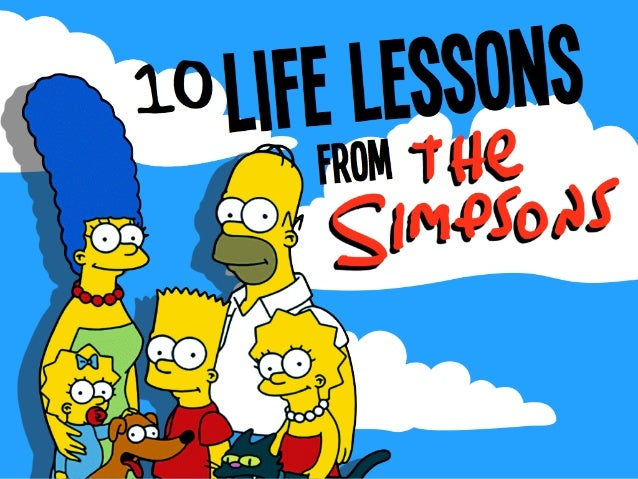 the Simpsons From Life lessons10