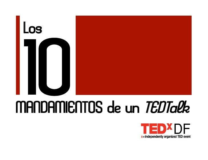 Los    10 MANDAMIENTOS de un TEDTalk