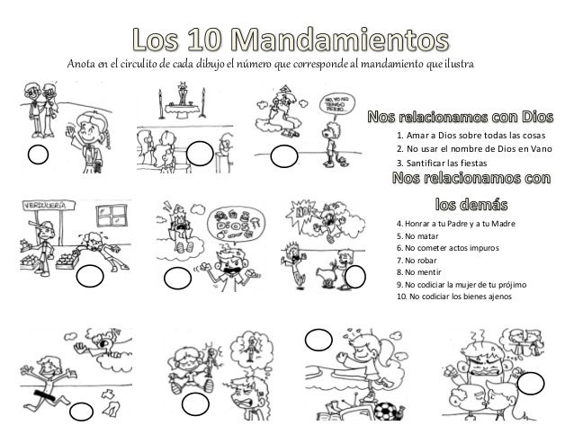10 mandamientos act dibujos - Actividades para ninos pequenos ...