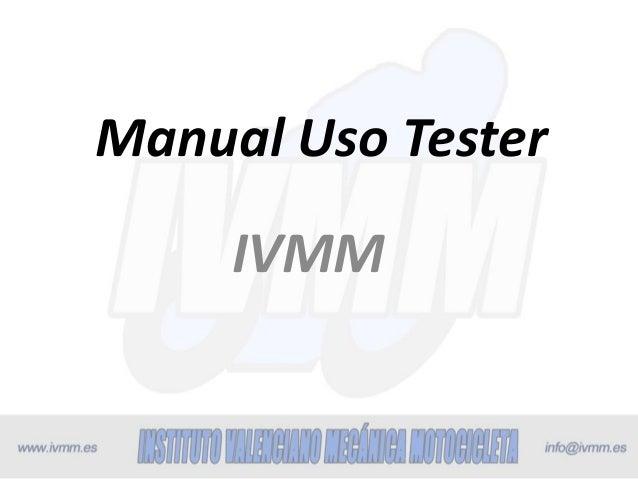 Manual Uso Tester  IVMM