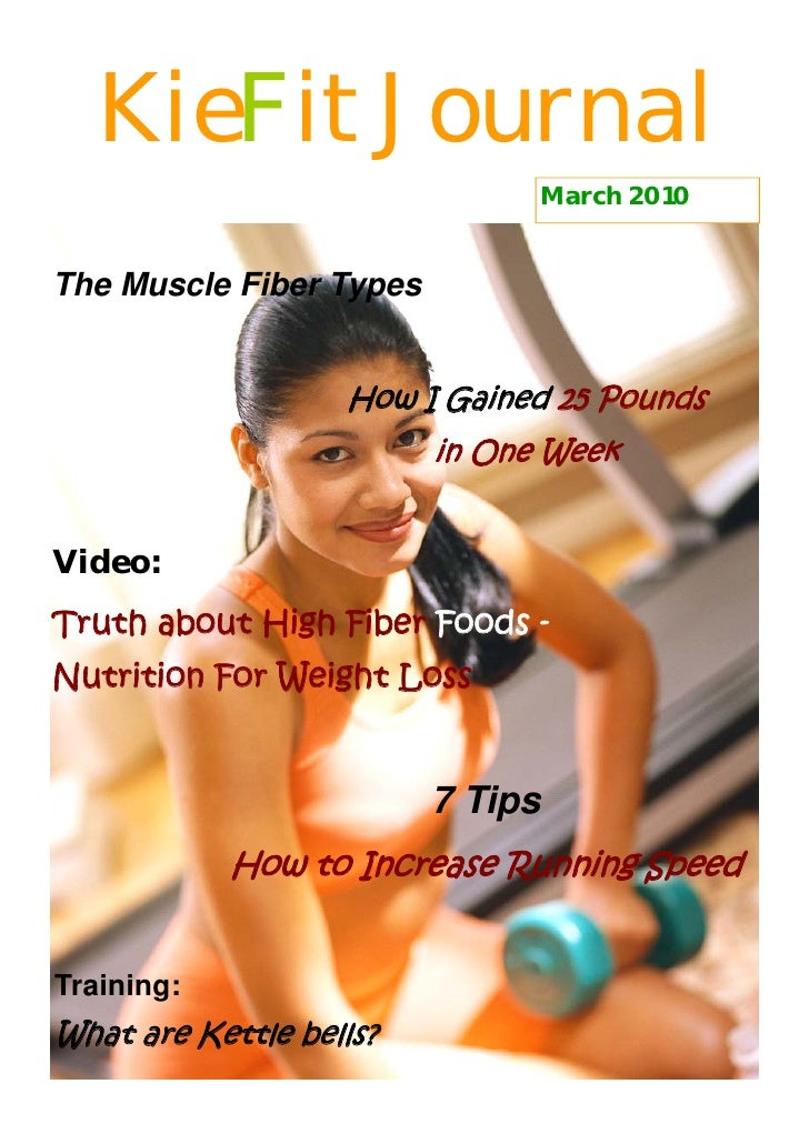 KieFit Journal                                March 2010   The Muscle Fiber Types                      How I Gained 25 Pou...