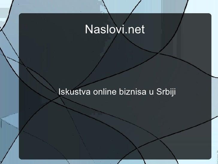 Miloš Mileusnić - Realnost Online biznisa u Srbiji