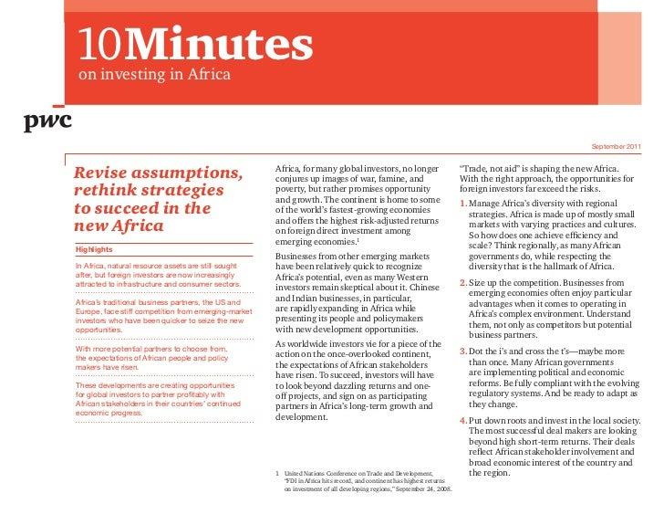  Menu10Minuteson investing in Africa                                                                                     ...