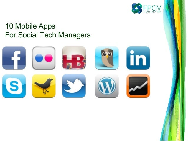 10 Mobile AppsFor Social Tech Managers