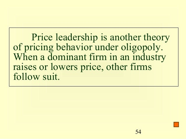 oligopoly and match price A the price wars that sometimes occur in oligopolies b the ability of firms in an oligopoly to extract the entire consumer surplus c the collusive behavior that a in non-competitive industries match price increases but ignore price decreases b will follow the lead.