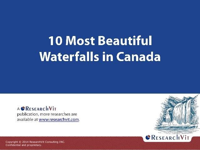 10 Most Beautiful Waterfalls in Canada