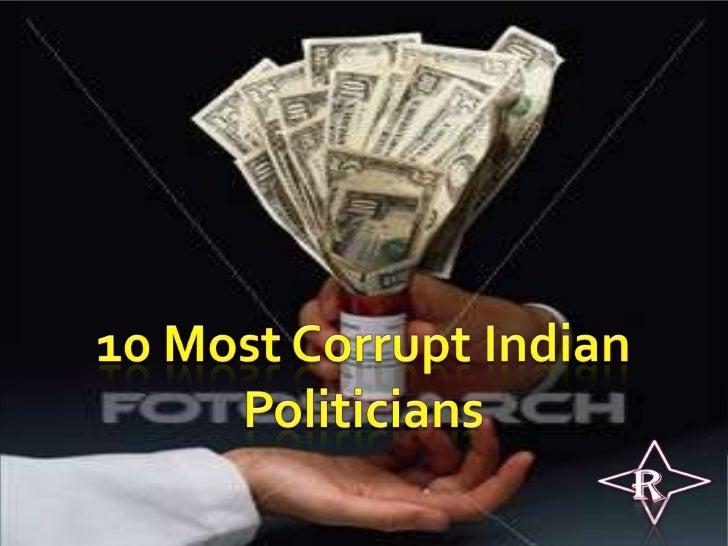 corrupt politicians india