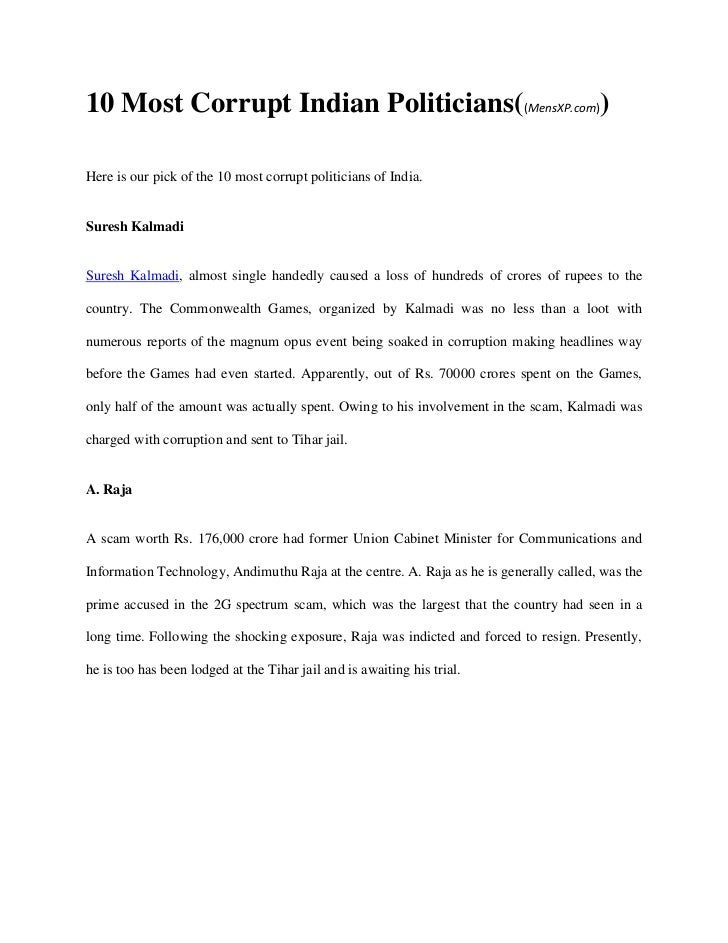 essay on political corruption in worlds largest corruption in politics essay