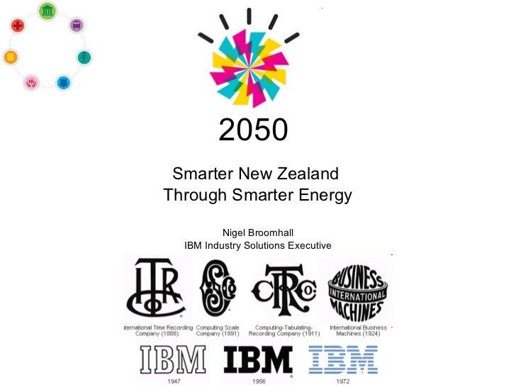 Smarter New Zealand through smarter energy