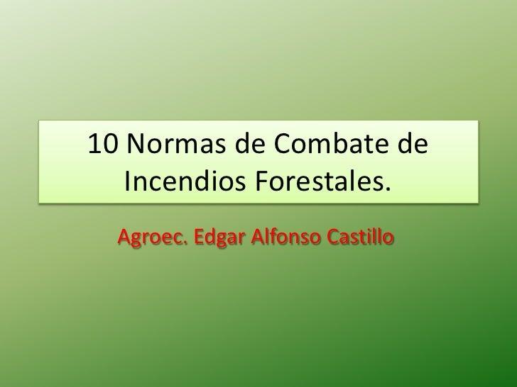 10 Normas De Combate De Incendios Forestales