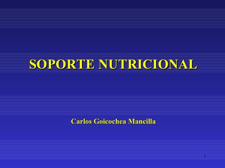 SOPORTE NUTRICIONAL Carlos Goicochea Mancilla