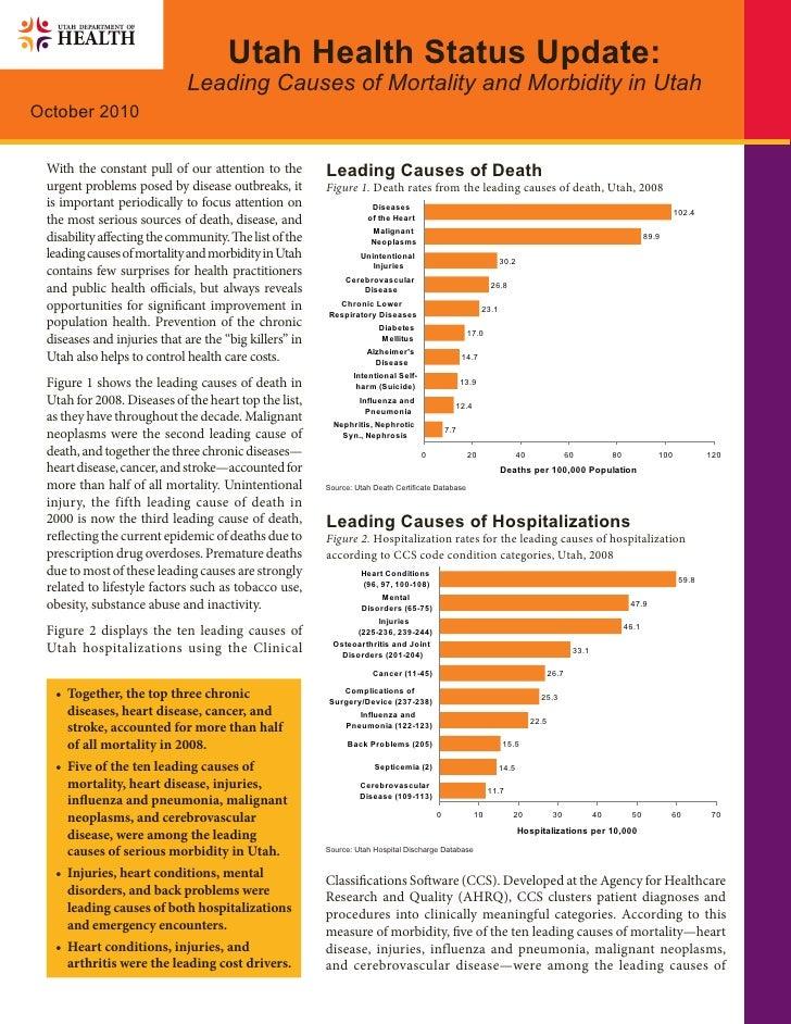Utah Health Status Update:                              Leading Causes of Mortality and Morbidity in Utah October 2010    ...