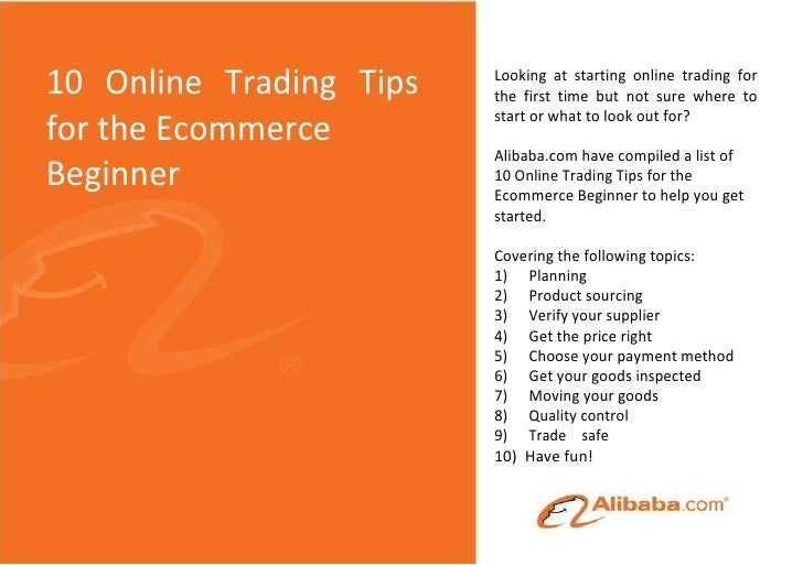 10 Online Trading Tips   Looking at starting online trading for                         the first time but not sure where ...