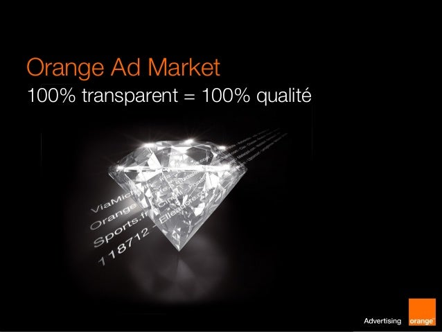 Orange Ad Market 100% transparent = 100% qualité  1