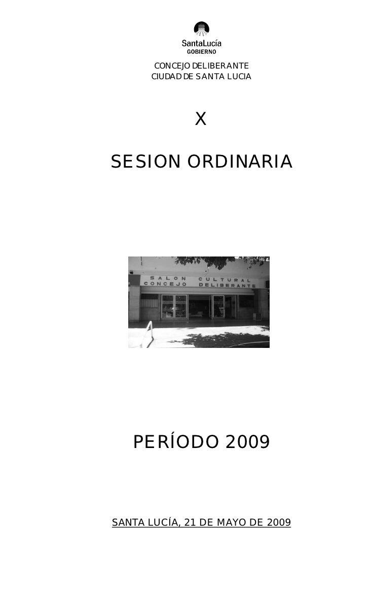 10º Ordinaria 2009