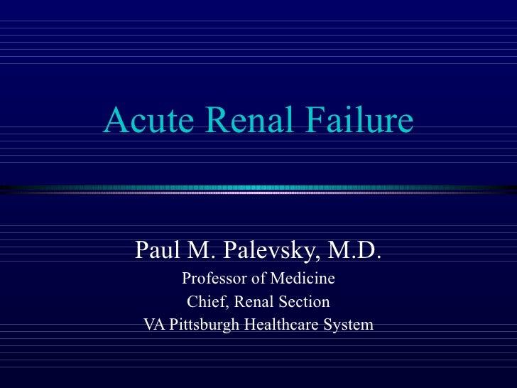 10 Palevsky   Acute Renal Failure