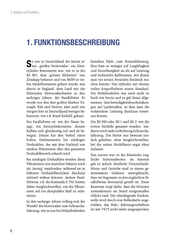 1. Aufbau und Funktion            1. FUNKTIONSBESCHREIBUNG                o wie in Deutschland der Motor ei-      bestehen...