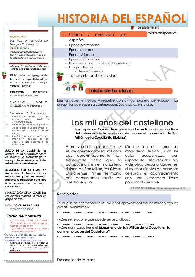 10° per 1° clase n°2 historia del español