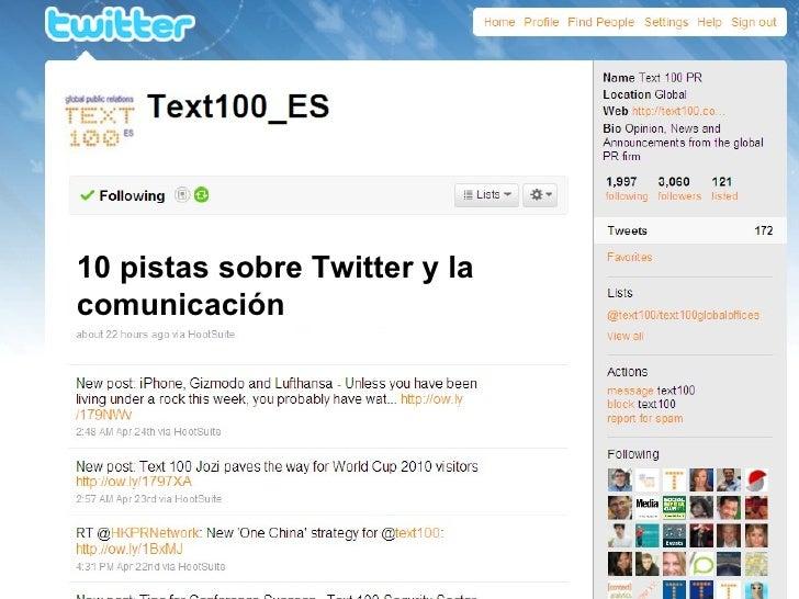 10 pistas sobre Twitter y la comunicación