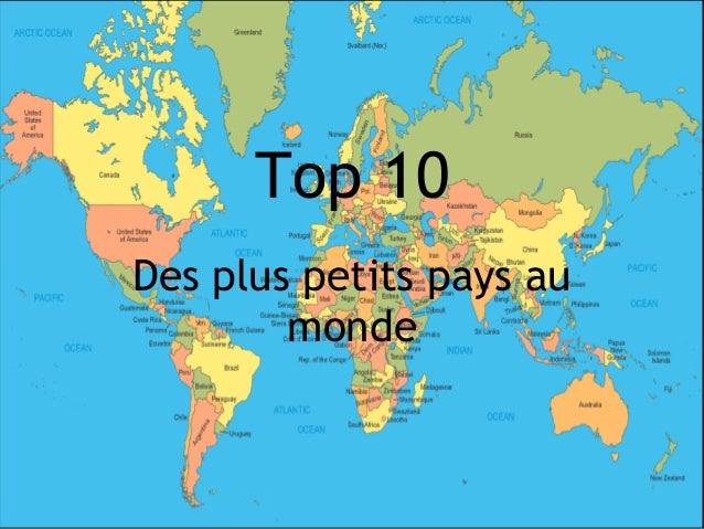 Top 10Des plus petits pays au        monde