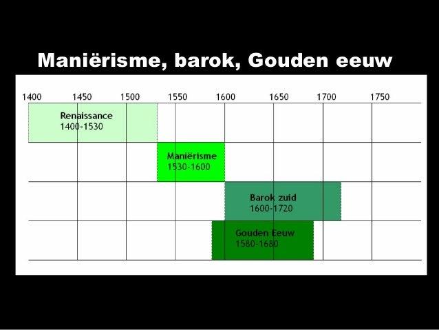 Maniërisme, barok, Gouden eeuw