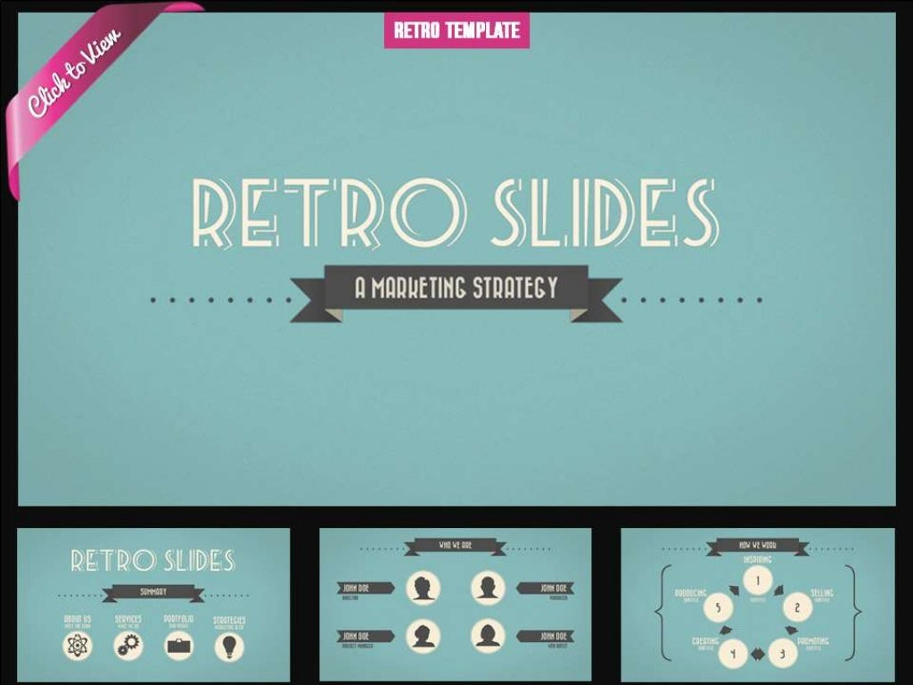 Retro Presentation Template
