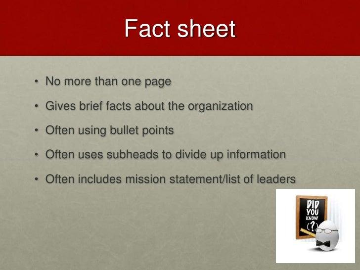 Media Fact Sheet Fact Sheet• no More Than One