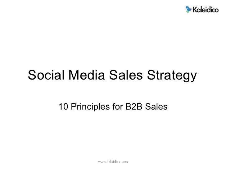 10 Principles for B2B Social Selling