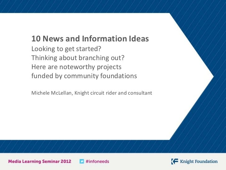10 News and Information IdeasLooking to get started?Thinking about branching out?Here are noteworthy projectsfunded by com...