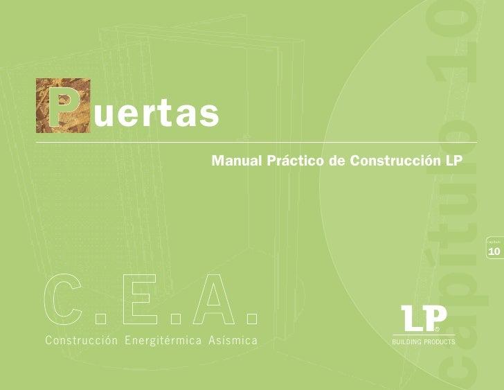 apítulo 1P uertas                           Manual Práctico de Construcción LP                                            ...