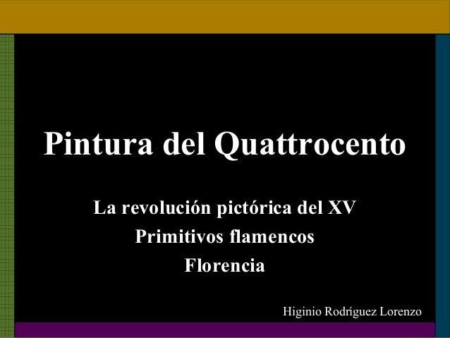 10La pintura del Quattrocento italiano y los primitivos flamencos