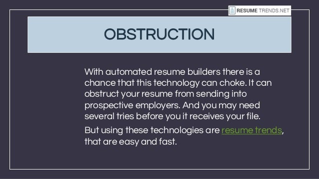 automated resume builder - Automated Resume Builder