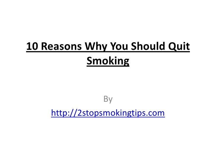 Reasons why you should quit smoking CRAVING