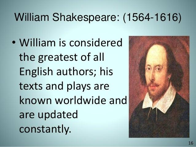 William Shakespeare literature