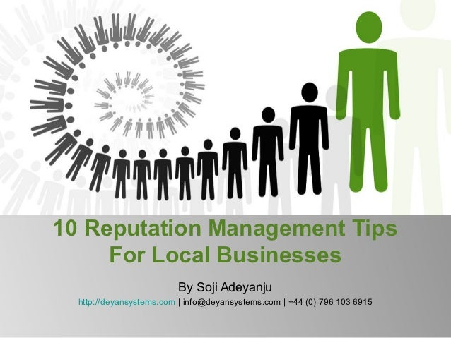 10 reputation management tips for local businesses