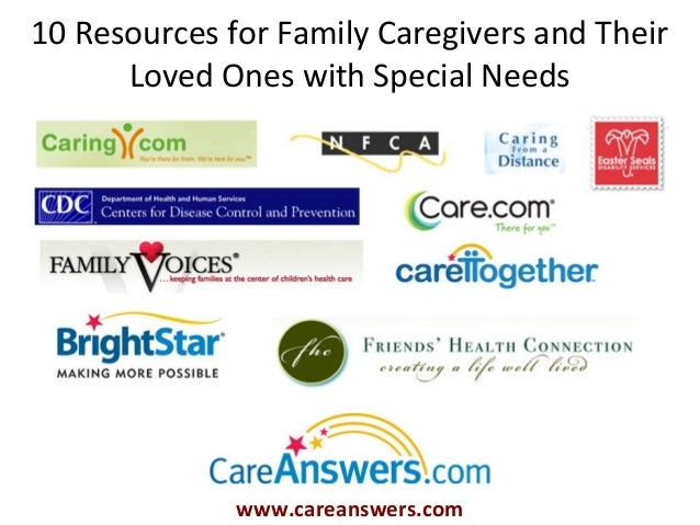 10 Resources for Family Caregivers and Their      Loved Ones with Special Needs              www.careanswers.com